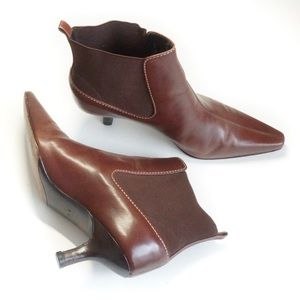 Cole Haan City pointed brown ankle boots size 7